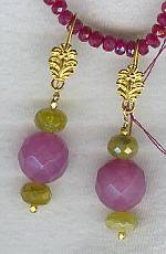 Faceted Jade & Spessertite earrings FAC1136