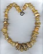 Sanded Amber nugget necklace NUG2158