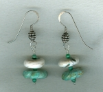 Turquoise and Conch Shell earrings FAC8035