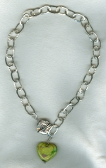 Hammered fine Silver chain necklace VEN4251