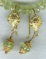 Faceted lime Chrysoberyl earrings FAC1327