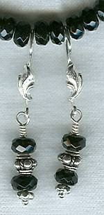 Faceted black Onyx earrings FAC1332