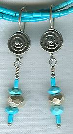 High quality Sleeping Beauty Turquoise earrings NUG2316