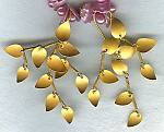 18K gold chandelier leaf earrings FAC1493