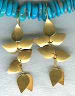 18K gold chandelier leaf earrings FAC1499