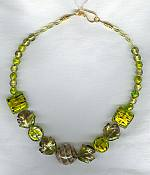 Lime Venetian Glass Necklace VEN4035