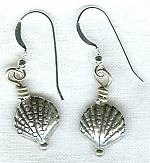 Sea Shell silver earrings NUG2264