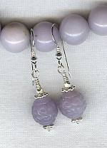 Lavender Chalcedony earrings NUG2141