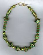 Gold leaf Venetian Glass Necklace VEN4041