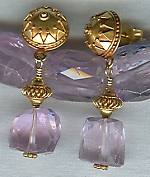 Faceted pink Kunzite earrings FAC1395