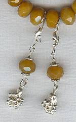 Faceted yellow Jade Earrings FAC1211