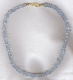 AA quality faceted Aquamarine Necklace FAC8113