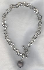 Sterling chain with sterling heart pendant FAC8121