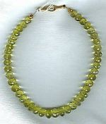Faceted lemon Citrine rondel necklace CC6029