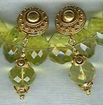 Faceted lemon Citrine rondel earrings CC6030