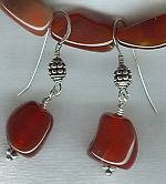 Carnelian nugget earrings NUG2284