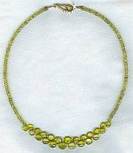 Rare faceted lemon Tourmaline 3.5mm rondel Necklace CC6072