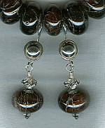 Garnet rondel earrings FAC1647