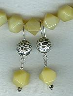 Faceted 12mm yellow Opal earrings FAC1732