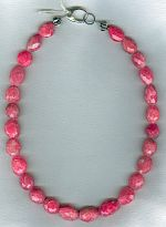 Pink Sapphire faceted nugget necklace FAC1936