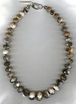 Dendrite Opal rondel necklace FAC1943