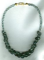 AAA quality faceted moss Aquamarine necklace CC6198
