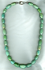 Natural Tibetian Turquoise barrel necklace FAC8020