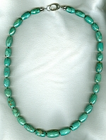 Natural Tibetian Turquoise barrel necklace FAC8021