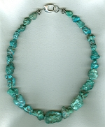 Mexican Turquoise nugget necklace NUG2715