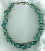 Mexican Turquoise nugget necklace NUG2716