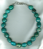 Chinese Turquoise nugget necklace NUG2717