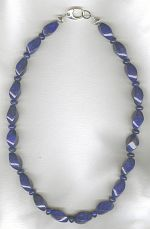 Carved Lapis necklace FAC8192