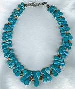 Sleeping Beauty Turquoise and Citrine necklace NUG2415