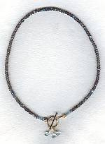 Labradorite rondels and Aquamarine necklace FAC1776