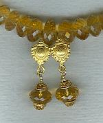 Citrine rondel earrings FAC1779