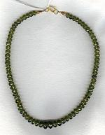 Vesonite rondel necklace FAC1782