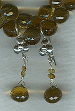 Tourmaline and Quartz earrings FAC1786