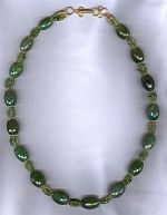 Faceted Nephrite Jade barrel necklace CC6152