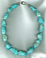 AAA quality natural Sleeping Beauty Turquoise nugget necklace CC6200