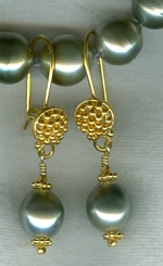 Silver gray South Sea Pearl earrings CC6202