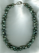 Natural green Emerald onion necklace FAC8022