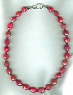 Natural red Ruby necklace FAC8025