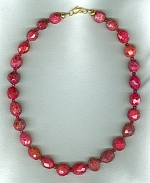 Natural red Ruby necklace FAC8027
