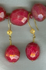 Natural red Ruby necklace FAC8028