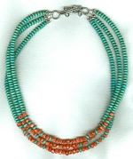 Natural Mexican Turquoise necklace FAC8029