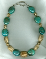 Natural Chinese Turquoise necklace NUG2726