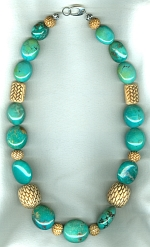 Natural Chinese Turquoise necklace NUG2727