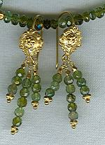 Faceted green Tourmaline chandelier earrings FAC1587