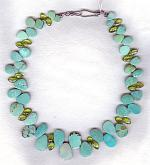 Natural Chinese Turquoise with Peridot necklace NUG2552