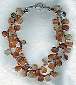 Carnelian drop necklace FAC1788
